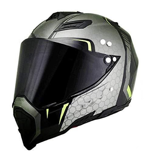 Claean-Acces-Home Woom Helm Mate schwarz Dual Sport Offroad Motorradhelm Dirt Bike (M Blau) Vollgesicht-Nummer 22_S.