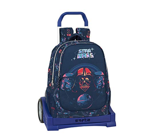 Safta Mochila Escolar Espalda Ergonómica con Carro Evolution de Star Wars, 612001860, Multicolor