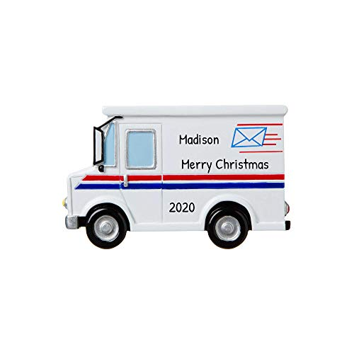 Personalized Postal Worker Christmas Tree Ornament 2019 - Postman Letter Carry Mail Holiday United States Service Parcel Office Coworker Profession New Job Online Shopper Year - Free Customization