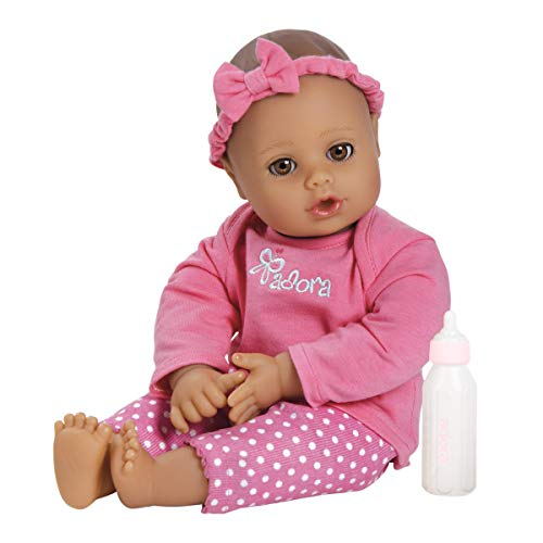 Adora Playtime Collection Pink 13 Soft Baby Doll with Bottle