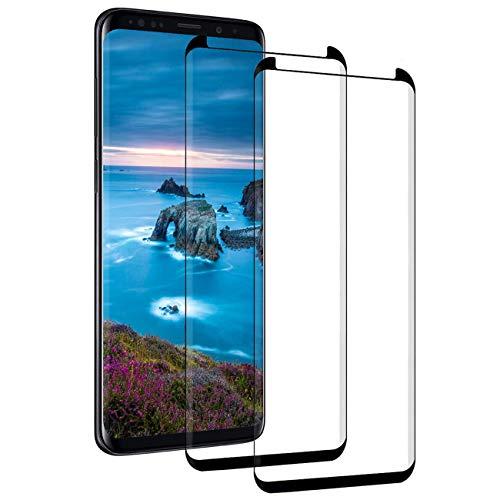 Panzerglas für Samsung Galaxy S9/S8 Schutzfolie [2 Stück] Schutzglas HD Displayschutzfolie 9H Härte Panzerglasfolie Kompatibel mit Galaxy S8 Folie Anti-Bläschen Anti-Kratzer 3D Fullscreen S9 Hartglas