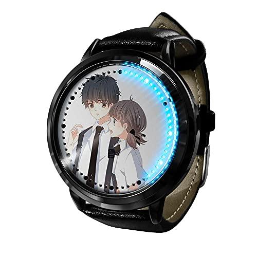 Hombre Mujer Anime Reloj LED Reloj de visión Ultrafino y de Gran Angular, Relojes de Pulsera para niños niñas-Anime3