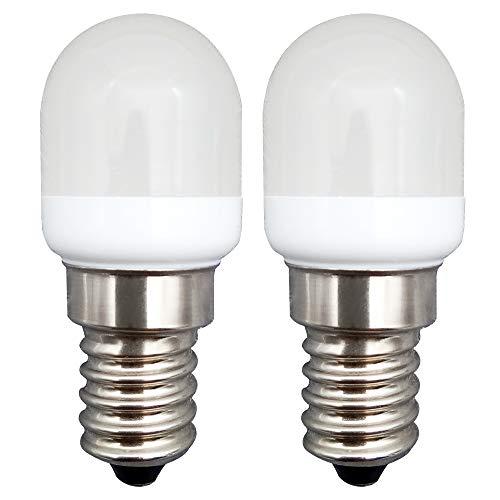 KingYH 2 Stück 2W LED Kühlschranklampe E14 LED Lampen E14 LED Birne Warmweiß 3000K 220V 180LM Ersatz 20W Halogenlampen Dimmbar 360°Abstrahlwinkel für Kühlschrank Dunstabzugshaube [Energieklasse A++]