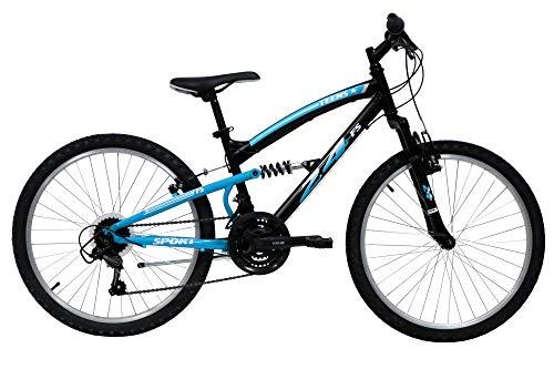 Bicicleta de montaña de 24 pulgadas, con 18 velocidades, cambio Shimano TY21 – Asas giratorias
