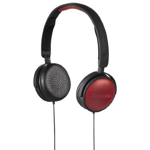 Thomson 00131823 HED2013 BK/RD Stereo-Kopfhörer schwarz/rot