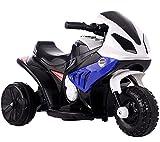 ZHBD Motocicleta De Pedal Eléctrico para Niños, Juguete De Paseo 6V Batería con Música/Bocina/Faros/Neumáticos De Amortiguación, Moto para Niñas Boy 3-6 Años,Azul