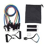 Bestlymood 11 juegos de cuerda de tracción multifuncional dispositivo de entrenamiento de fitness combinación de goma auxiliar dispositivo de tensión