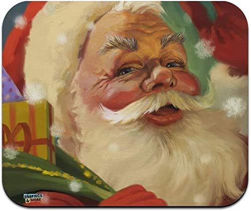 Weihnachtsfeiertag Retro Antiker Santa Schlitten Low Profile Dünne Mauspad Mousepad
