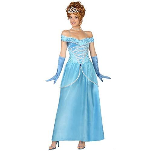 ATOSA disfraz princesa de cuento azul mujer adulto XS