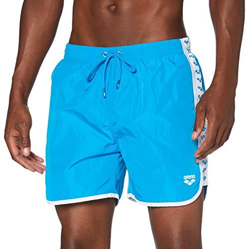 Arena M Team Stripe Boxer, Pantaloncino da Mare Uomo, Blu (Blue), S