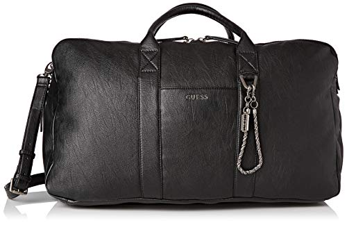 Guess Herren Jones Henkeltasche, Schwarz (Black), 30x32x55 Centimeters
