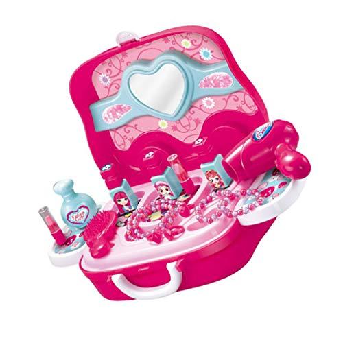 Nanny Pretend Play dressers koffer Kinderen Plastic Spiegel Haardroger Toy Set Verjaardagscadeau