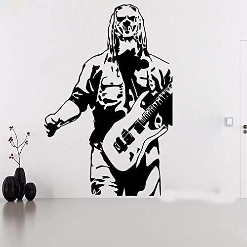 XCSJX Grand Corey Taylor Slipknot Guitare Sticker Mural Enfants Chambre Musique Super Star Sticker Vinyle Décor À La Maison 83 cmhighx56cmwide