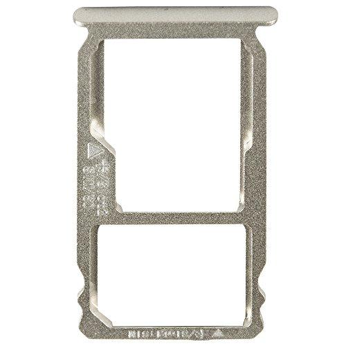 Unbekannt Original Huawei SIM und SD Kartenhalter Silver/Silber für Huawei Mate S (SIM SD Tray, Holder)