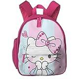 Pink Hello Kitty Print School Backpacks For Girls Boys Kids Elementary School Bags Bookbag Outdoor Daypack