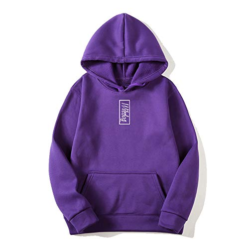 Wiledog Sudadera con capucha violeta con impresión vertical 270 g/m² violeta M