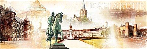 Pro-Art g1381s Wandbild Giclée 'Karlsruhe' 90 x 30 cm