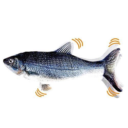 SOBW Flippity Fish – elektrisches Katzenspielzeug –wiederaufladbar mit USB Kabel-Fisch Spielzeug füR Katze Zum Spielen,BeißEn,Kauen Und Treten, Interaktives Spielzeug für Katzen