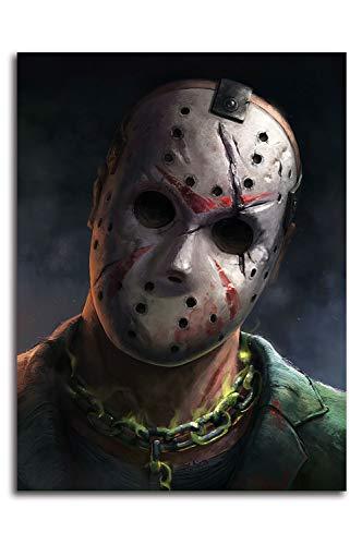 Stampe su tela di Ariago Friday the 13th Decor da parete 61 x 91,4 cm Halloween Horror Movie Jason Art Prints Home Decor, senza cornice/incorniciabile