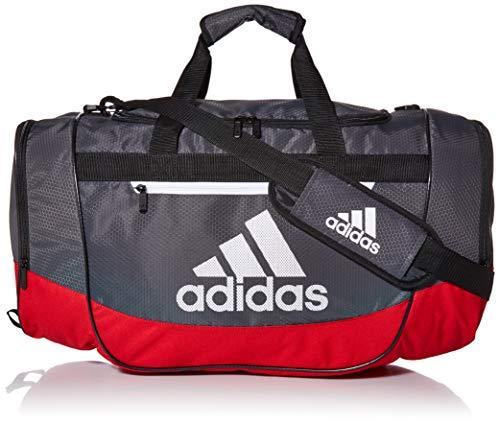 adidas Unisex Defender III Medium Duffel Bag, Scarlet/Grey Six/Black/White, Medium