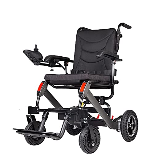 FGVDJ Scooters para Personas Mayores con discapacidades Silla de Ruedas eléctrica Plegable, Puede Subir al avión, Marco de aleación de Aluminio sólido, Peso Neto 25KG180 *