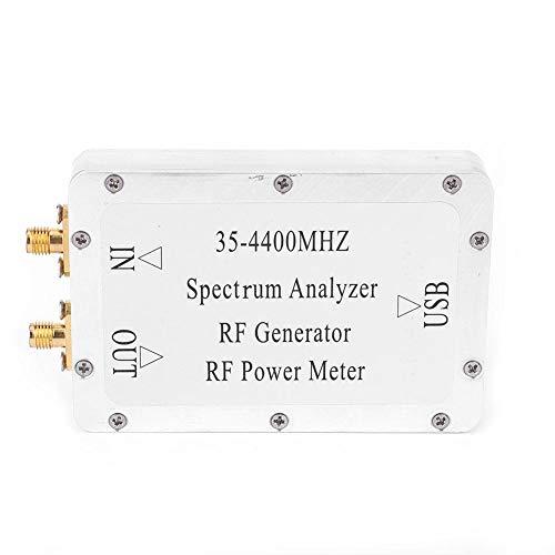 Analizador de espectro Analizador de espectro de 35-4400 MHz Medidor de potencia de fuente de señal de barrido de carcasa de aleación de aluminio con cable