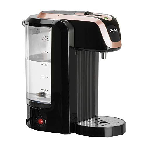 Cooks Professional Electric Instant Hot Water Dispenser 2.5L 2600W (Black & Rose Gold)