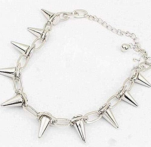YOUZYHG co.,ltd Necklace Vintage Silver Punk Spike Cone Stud Rivet Open Bracelet Bangle Jewelry for Women x Accessories
