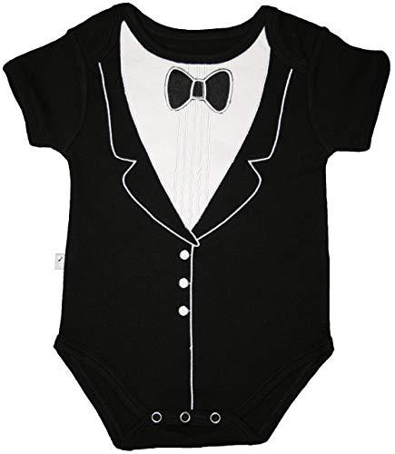 Tuxedo Combinaison (6–9 mois, Noir), par Frenchie Mini Couture