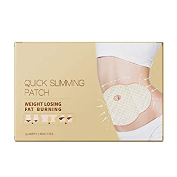 5 Pcs Quick Slimming Patch Health Belly Abdomen Navel Anti-Obesity Fat Burn Thin Lose Weight Adhesive Slim Patch
