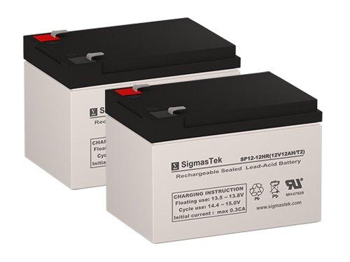 Buzz Electric Scooter Replacement Batteries - 2X 12 Volt 12AH Batteries by SigmasTek