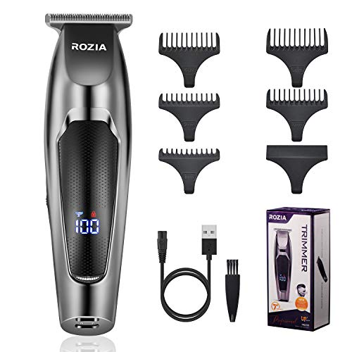 Roziaplus Beard Trimmer Professional Hair Clippers for Men Titanium Blade Clippers for Hair Cutting Portable Home/Travel Hair Trimmer USB Rechargeable