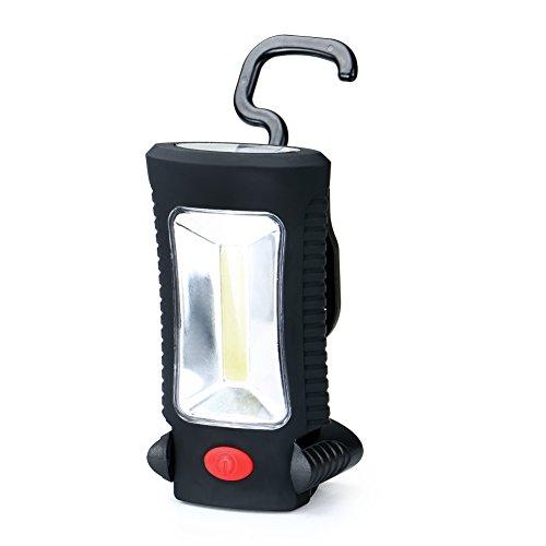 COB LED + 3 LED Lampe de Travail Lampe de Poche Magnétique Suspendu Camping Lumière Urgence Noir