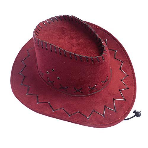Janly Clearance Sale Western - Sombrero de vaquero de ante auténtico Gunslinger unisex, 1 unidad