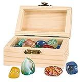 moses Pirata | con 24 minerales auténticos | Cofre del Tesoro de Madera para niños, Color (35027)