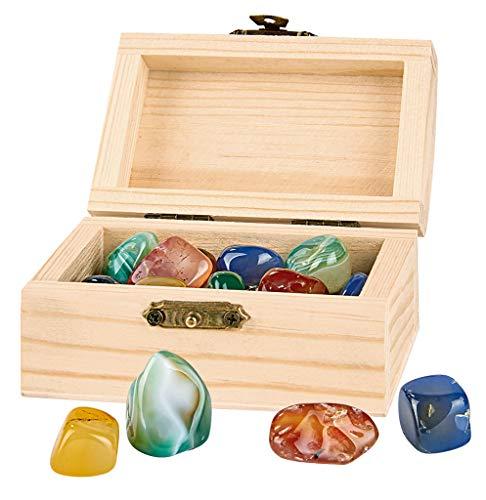 Moses. 35027 Piraten-Schatztruhe | Mit 24 echten Mineralien | Schatzkiste aus Holz für Kinder
