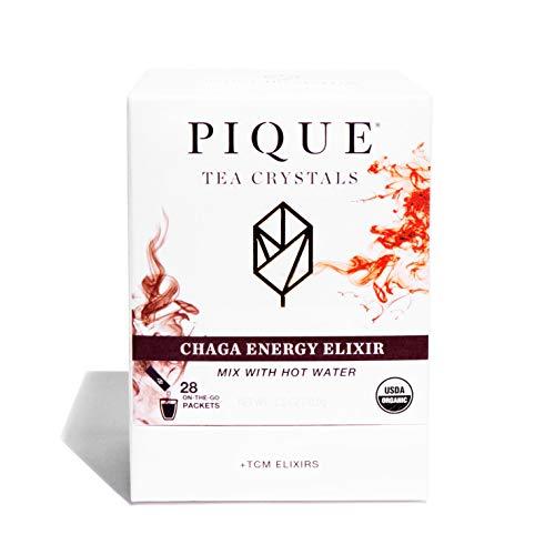 Pique Tea Organic Chaga Energy Elixir - Immune Support, Calm Energy, Focus - 1 Pack (28 Sticks)