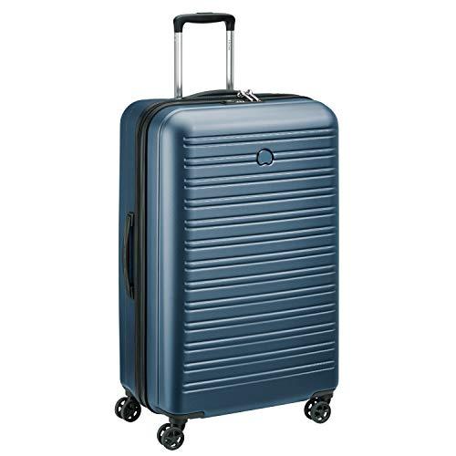 DELSEY PARIS - SEGUR 2.0 - Valise rigide à double roues et serrure TSA intégrée - 78cm, 105L, Bleu