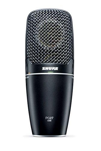 Shure PG27-USB Microfono a Condensatore con Diaframma Largo, USB, Nero