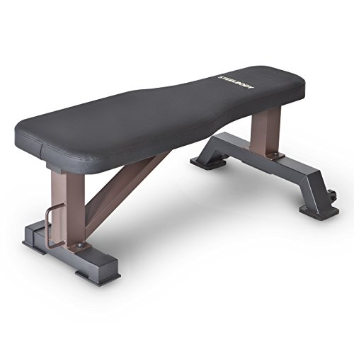 Steelbody Flat Bench, Black