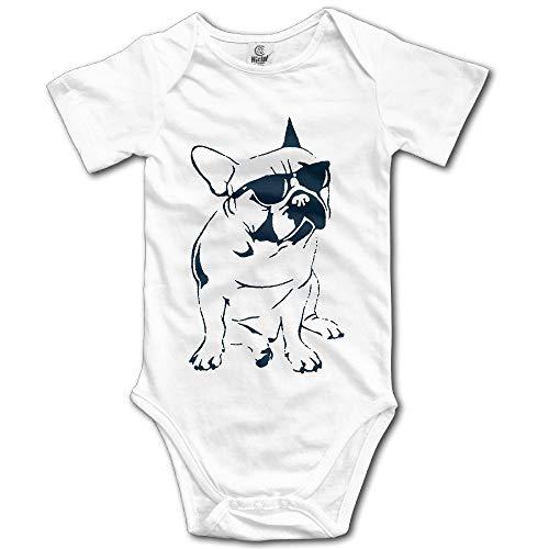 Baby Onesie Unisex Frenchie French Bulldog Toddler Climb Jumpsuit White