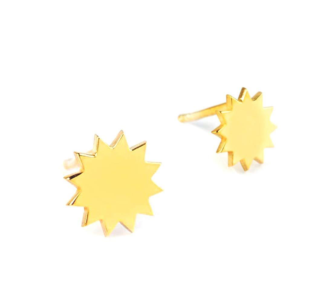 Elegant jewel box Unisex Tiny Sun women SALENEW very popular! earrings for stud Solid Ranking TOP18