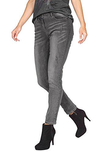 Aniston Damen Jeans Jeanshose (Grau, 36)