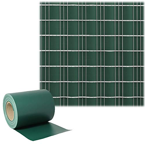 Garden Screening, PVC Privacy Screen Strips Fence Film Outdoor Privacy Wicker Panels Double Bar Wire Mesh Fencing Garden Privacy Protection