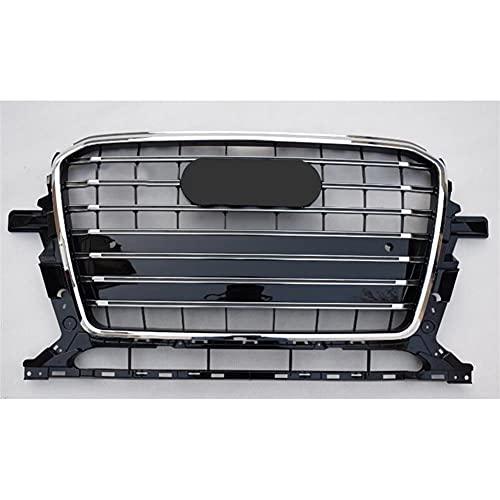 Parachoques Delantero Grill, para SQ5 Estilo Parrilla del Coche para Audi Q5 8R 2013 2014 2015 2016 2017 Parachoques Parrilla Parrilla del Coche,Chrome Emblem