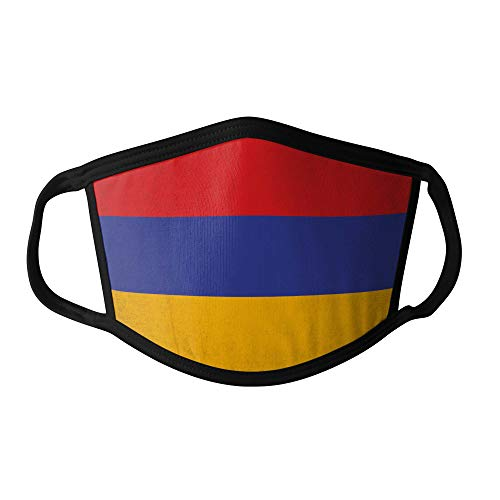 M&schutz Maske Stoffmaske Groß Asien Flagge Armenien/Armenisch Wiederverwendbar Waschbar Weiches Baumwollgefühl Polyester Fabrik Schwarze Naht Trimmen