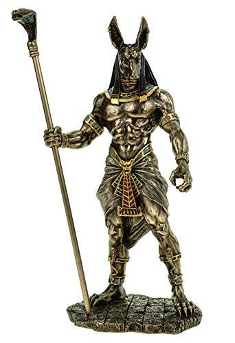 Veronese Figur ägyptischer Gott Anubis 28 cm Ägypten Pharao bronziert