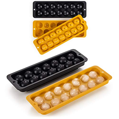 Blumtal Eiswürfelform Silikon Kugeln - 2x14er Pack, BPA frei, Leichtes Herauslösen der Eiswürfel, Silikon Form, Eiswürfelform Kugel