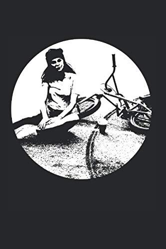 BMX GIRL: 6x9 Zoll Notizbuch – kariert (German Edition)