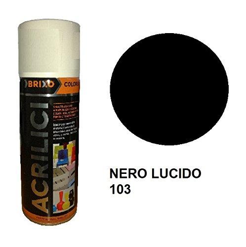 BOMBOLETTA SMALTO VERNICE SPRAY ACRILICA ML. 400 NERO LUCIDO 103.